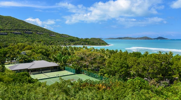 Tennis Courts at the Rosewood Little Dix Bay