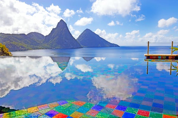 Infinity Pool at Jade Mountain St Lucia