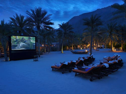 Six Senses Zighy Bay Outdoor Cinema