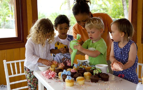 cupcake mayhem at Jumby Bay Island