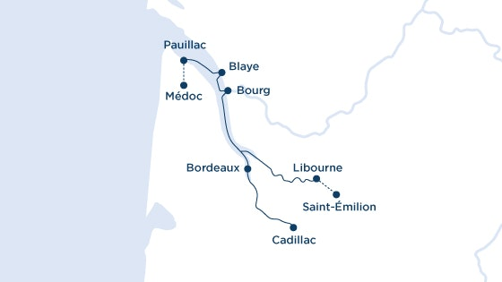 Scenic Bordeaux Round Trip Map