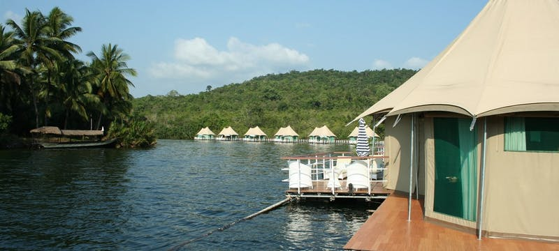 Exterior view of 4 Rivers Floating Lodge, Cambodia