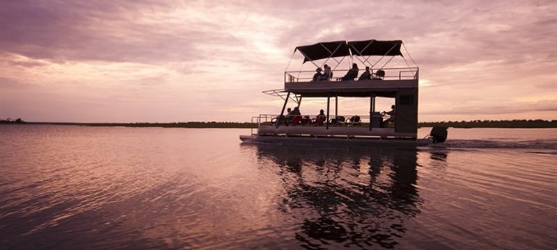 River boat cruise on Botswana and Sanctuary Retreats: Safari Adventure tour