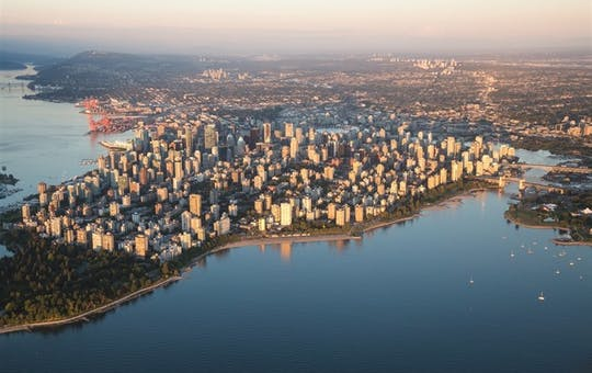 Aerial View of Vancouver