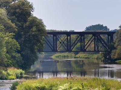 Railway Bridge Crossing a Span of the Grand River, viewed from St. Jacobs