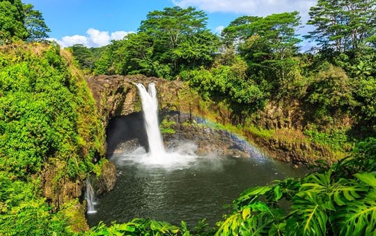 Rainbow Falls in Hilo. Wailuku River State Park