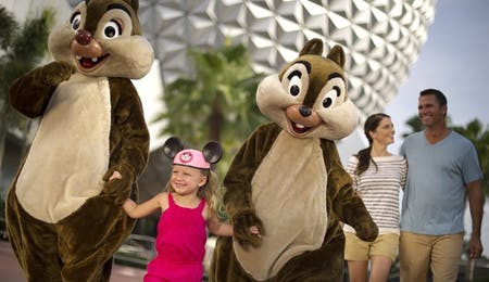 Chip 'N' Dale at Disney's Epcot Centre
