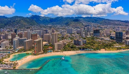 View Of Waikiki Beach, Oahu, Hawaii