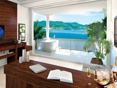 Italian Swim up Bi-Level One Bedroom Butler Suite with Patio Tranquillity Soaking Tub