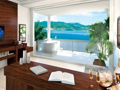 Italian Swim up Bi-Level One Bedroom Butler Suite with Patio Tranquillity Soaking Tub