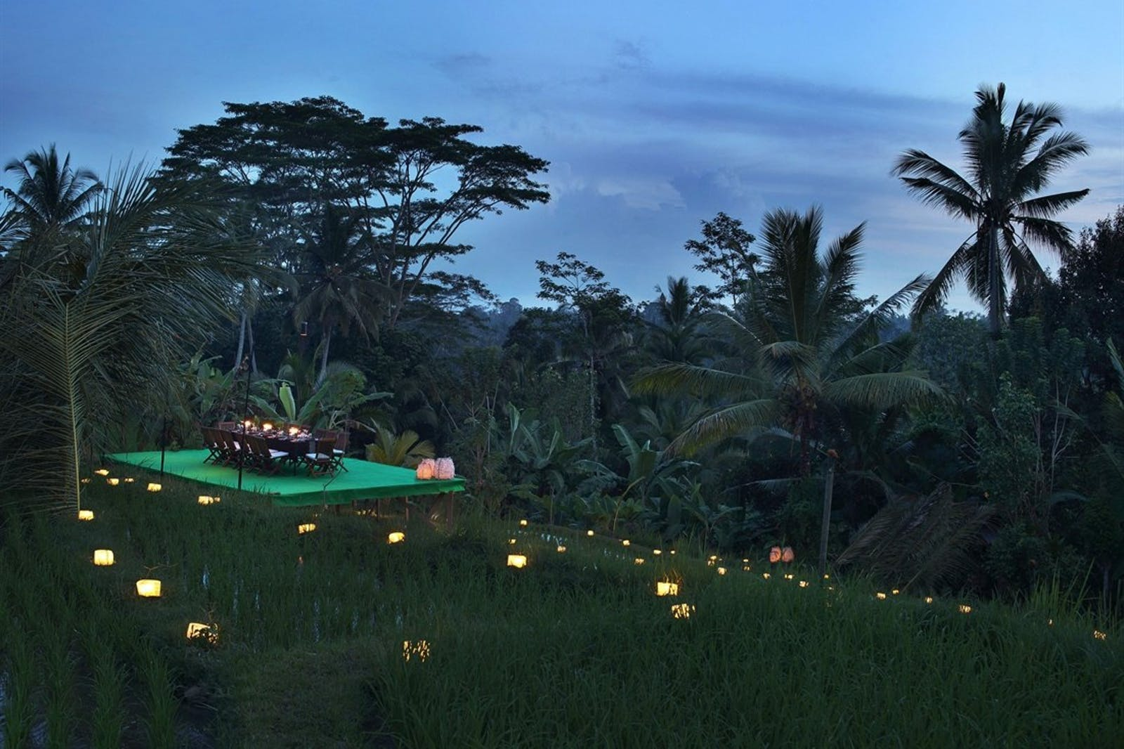 Dining over the Paddies at Alila Ubud, Bali