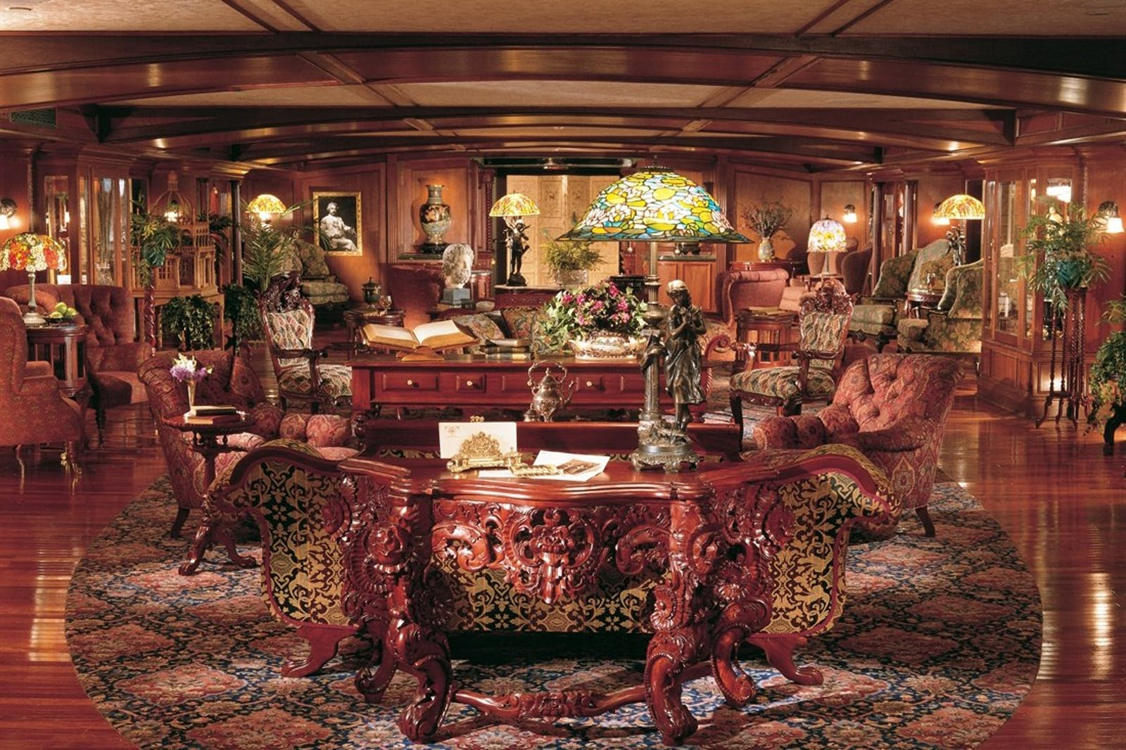 Decadent interiors on the American Queen
