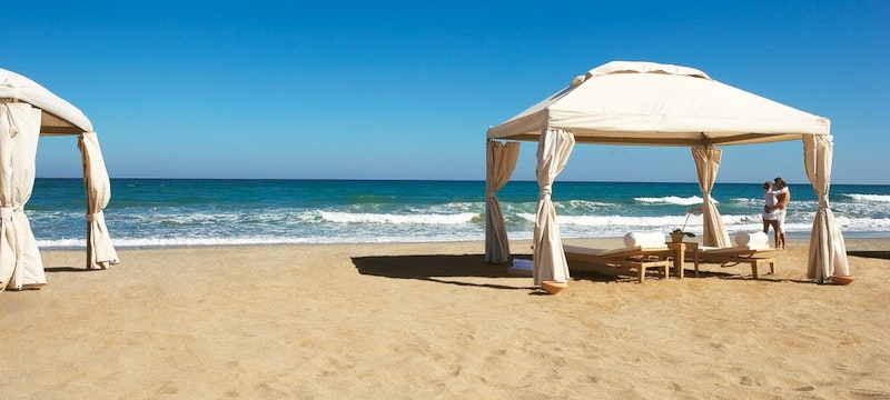 Beach Cabanas Reserved For Villa Guests
