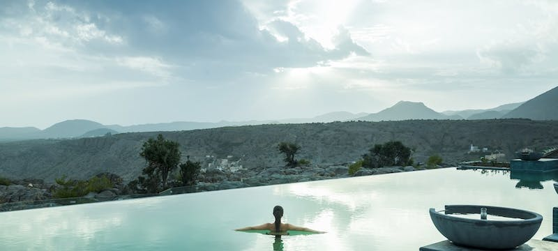 Infinity Pool at  at Anantara Al Jabal Al Akhdar