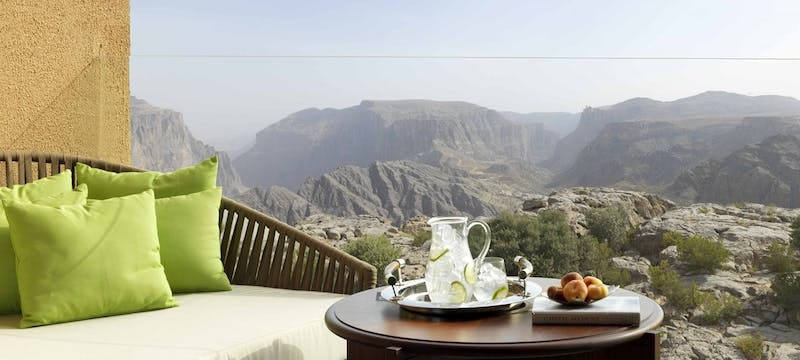 Canyon View Balcony at  at Anantara Al Jabal Al Akhdar