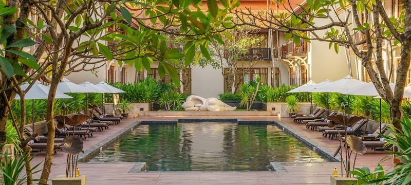 Pool Area at Anantara Angkor Resort, Cambodia