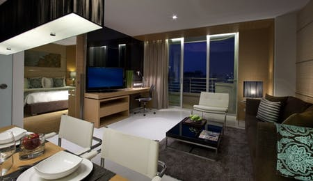 Deluxe Room Living Area at Anantara Bangkok Sathorn