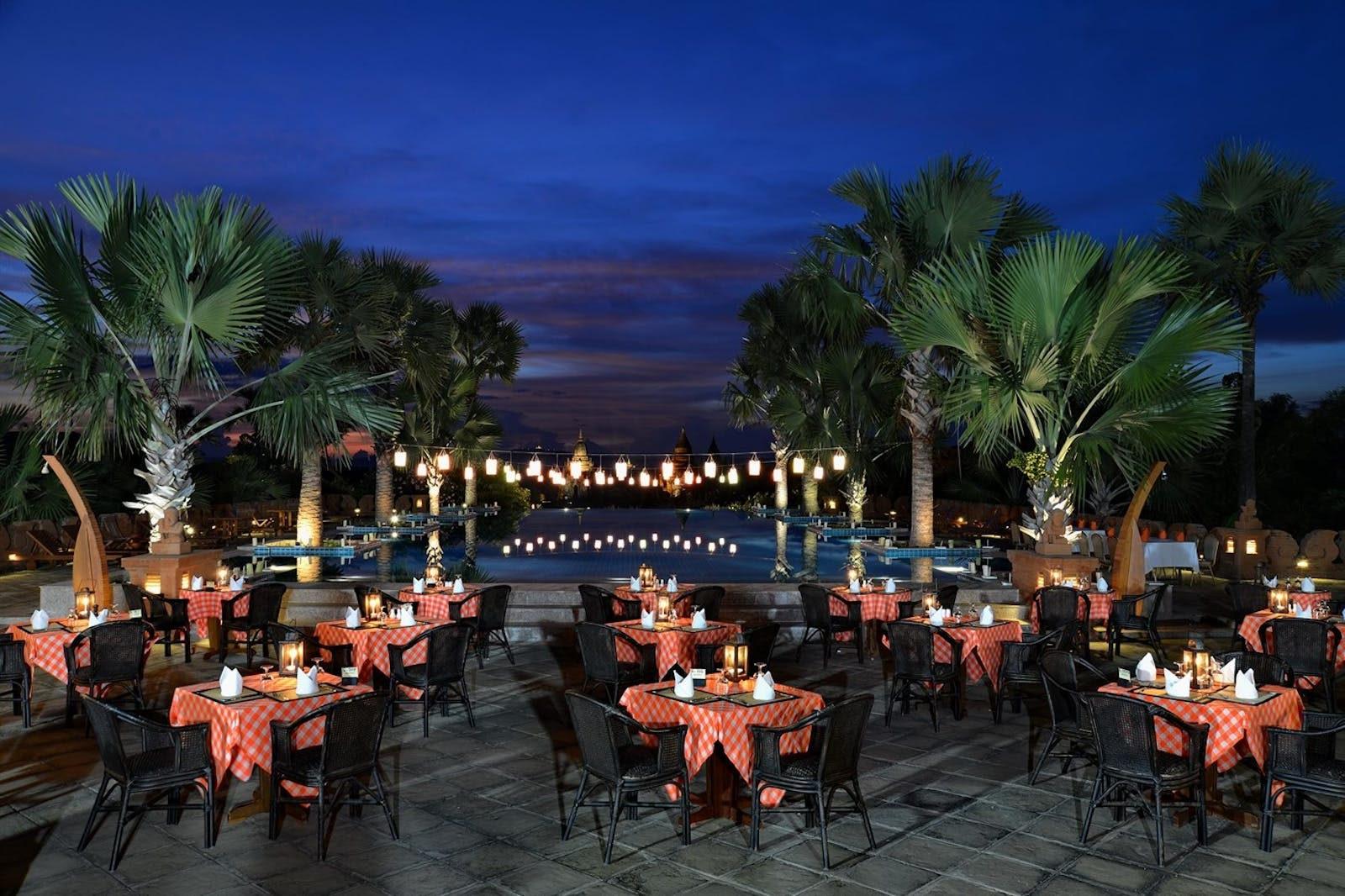 Open Air Dining at Aureum Palace Hotel Bagan