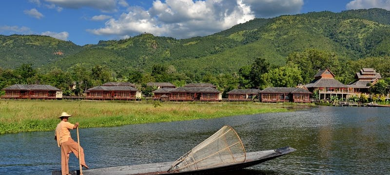View from Inle Lake at Aureum Palace Resort & Spa Inle