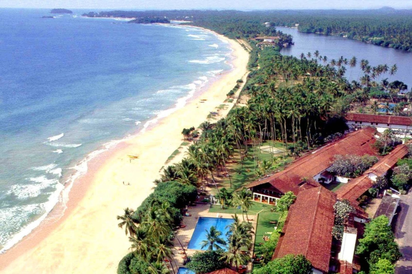 Beach view of Avani Bentota, Sri Lanka