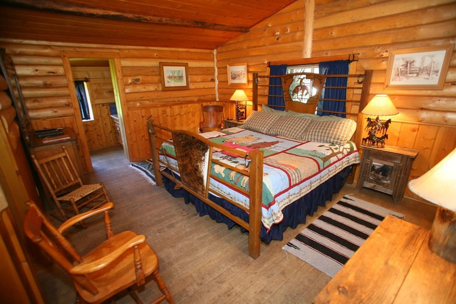 Guest Bedroom at Bar Lazy J Ranch, Colorado