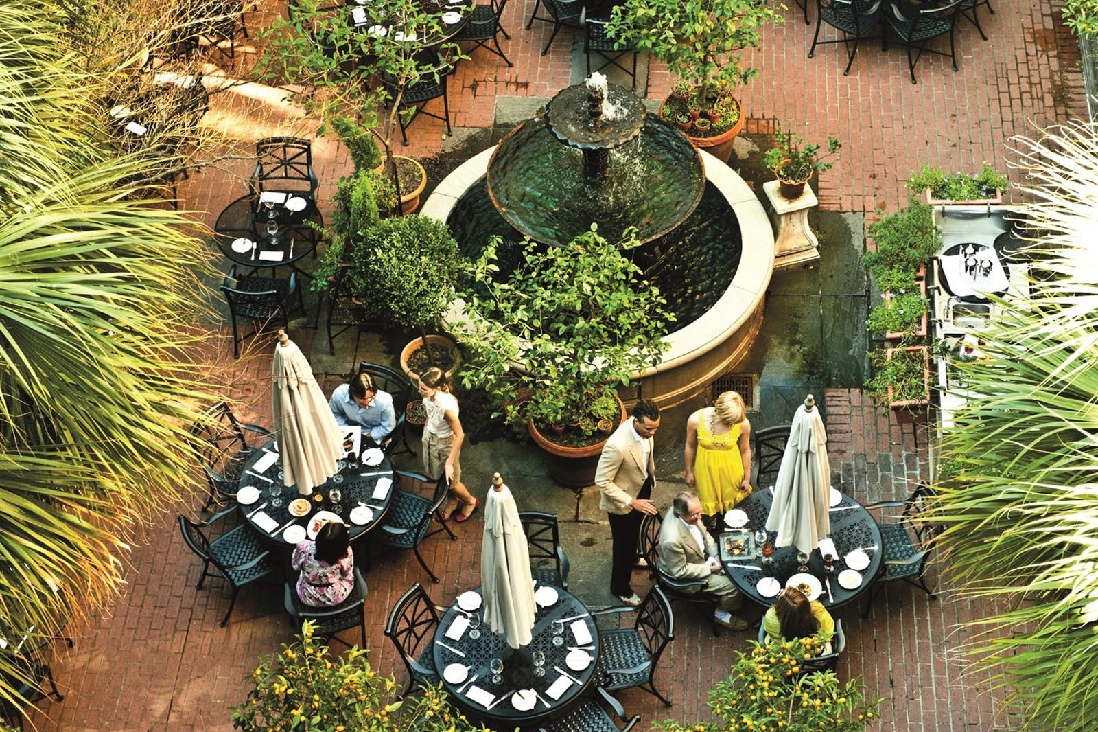 Outside Dining at Charleston Place, A Belmond Hotel, Charleston