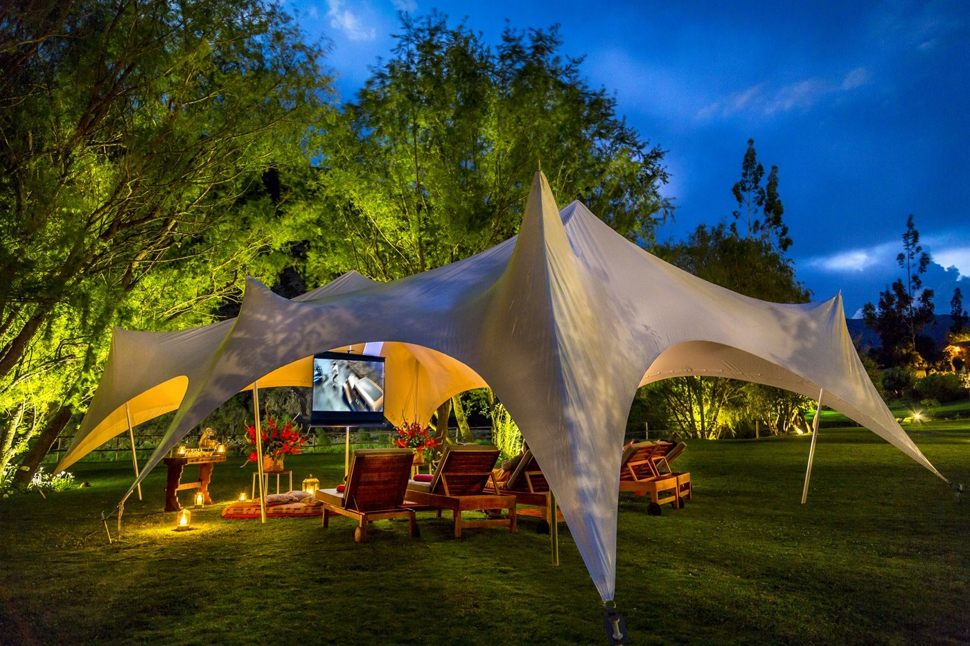 Outdoor Cinema, Belmond Hotel Rio Sagrado