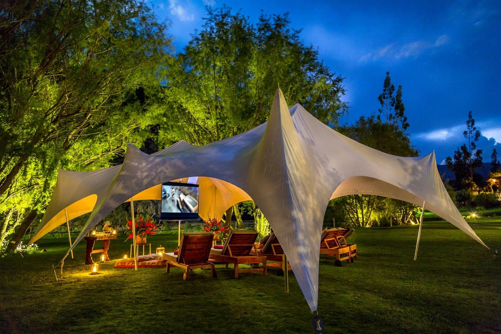 Outdoor Cinema, Rio Sagrado, A Belmond Hotel, Sacred Valley