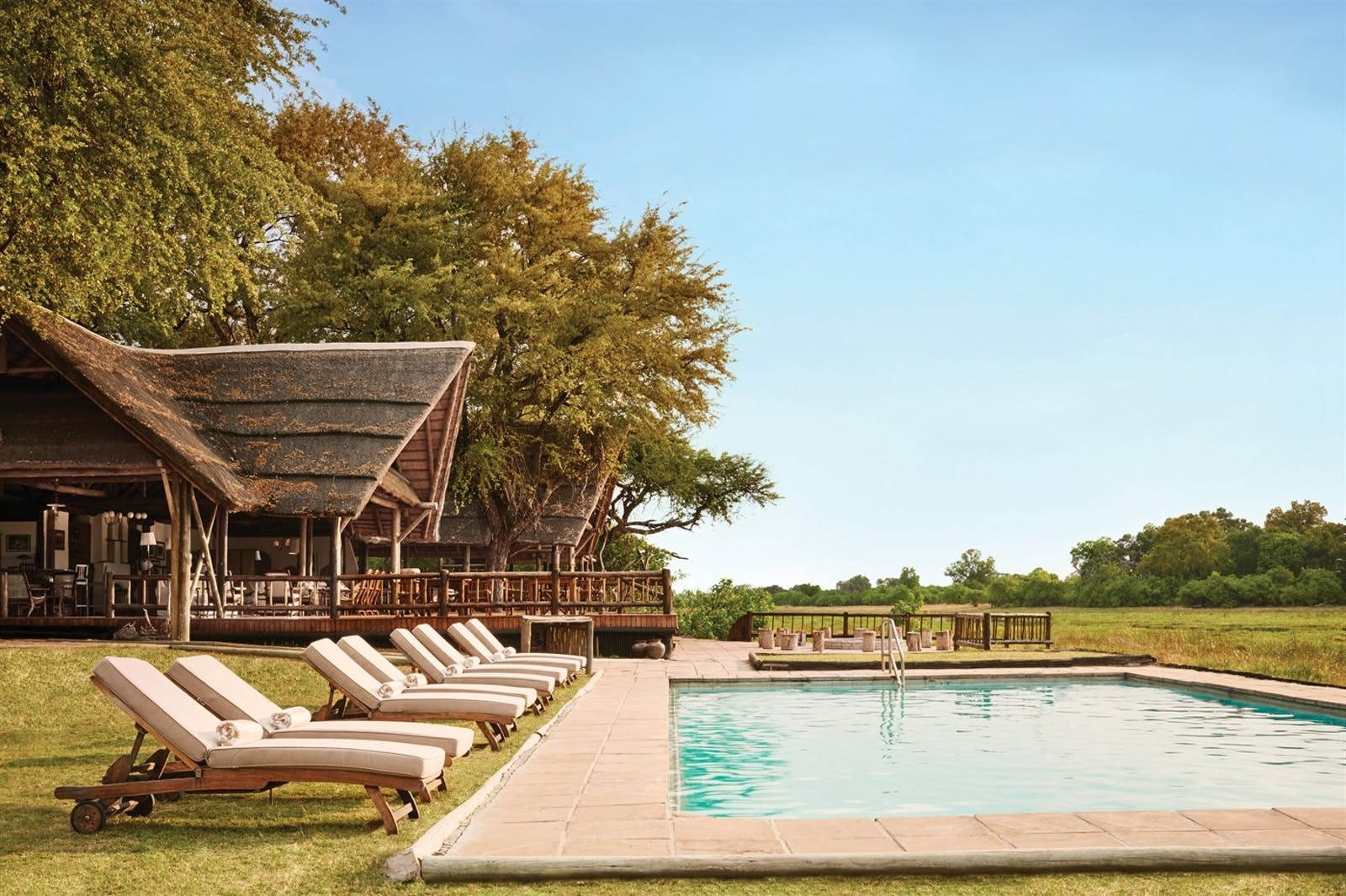 Swimming Pool at Khwai River Lodge, A Belmond Safari, Botswana