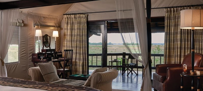 Luxury Tent Interior at Belmond Khwai River Lodge