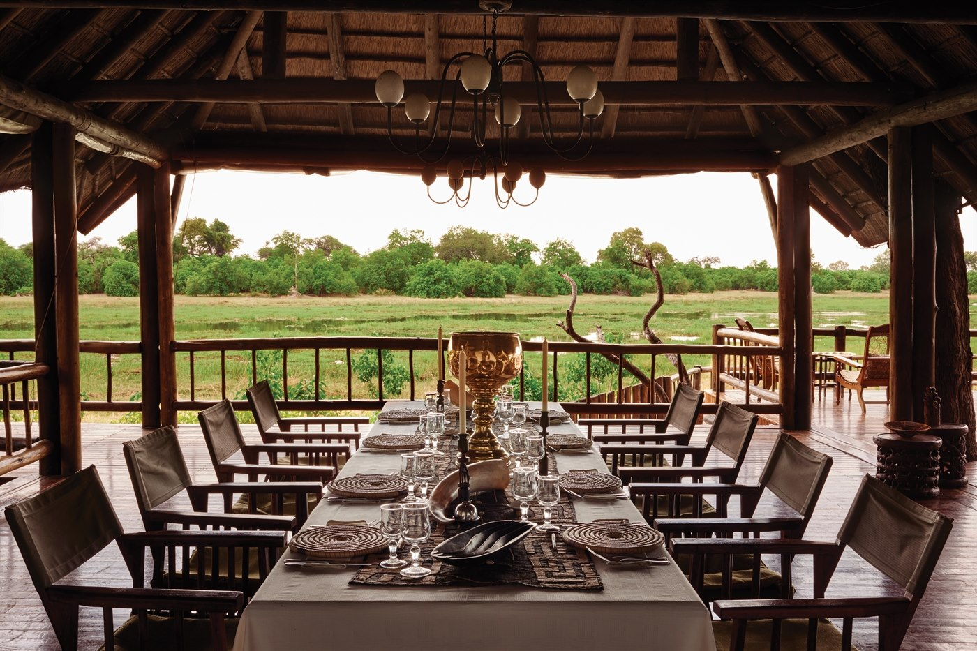 Dining at Belmond Khwai River Lodge