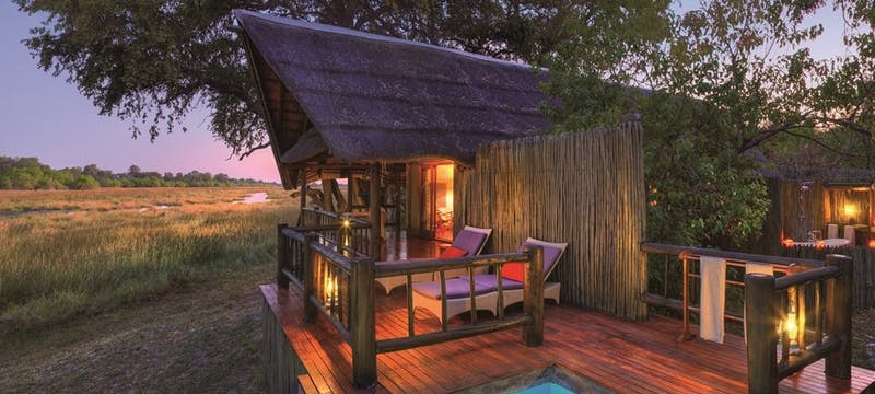 Luxury Tent Exterior at Belmond Khwai River Lodge