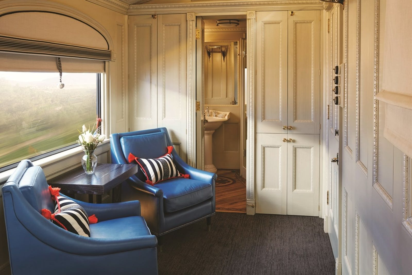 interior of cabin, Belmond Sleeper Train - Andean Explorer