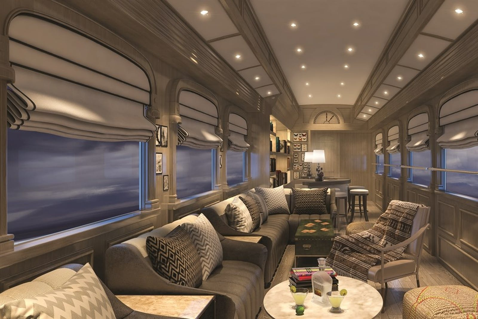 living room area, Andean Explorer, A Belmond Train, Peru