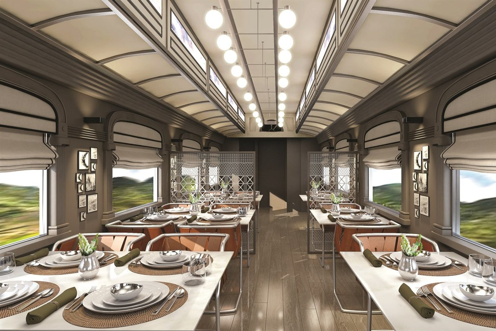 dining area, Andean Explorer, A Belmond Train, Peru