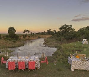 Alfresco dining at &Beyond Bateleur Camp