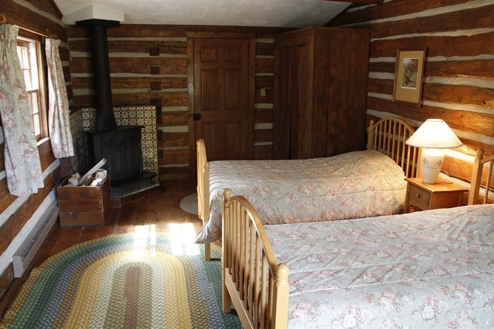 Twin Bedroom at Bitterroot Ranch, Wyoming
