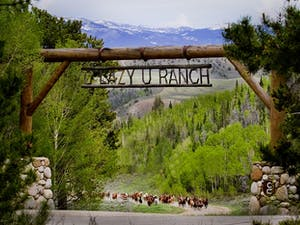 Entrance to C Lazy U Ranch, Colorado