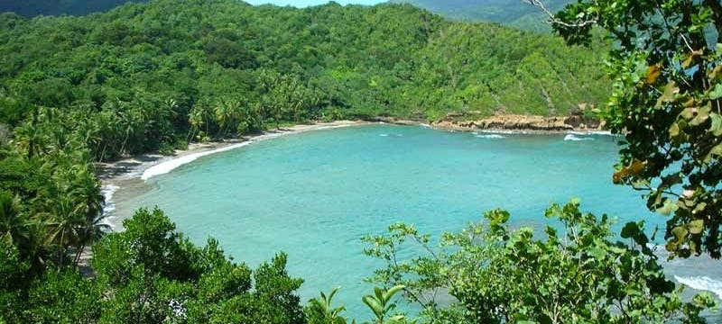 Overview of Calibishie Cove