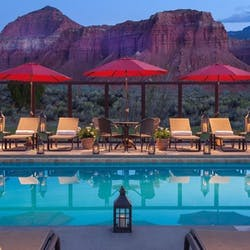 Summer Pool With View Of The Red Cliffs