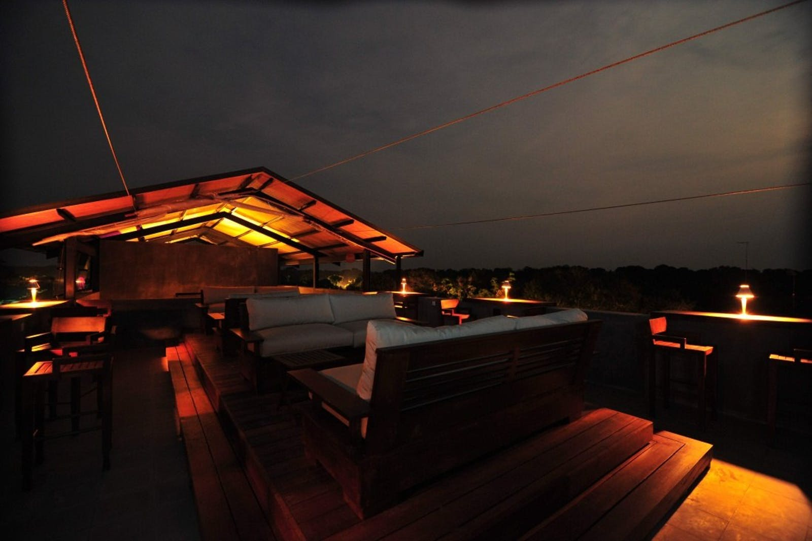 Observation deck at night at Cinnamon Wild, Sri Lanka