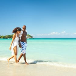 Romantic Stroll On The Beautiful Negril Beach, Jamaica