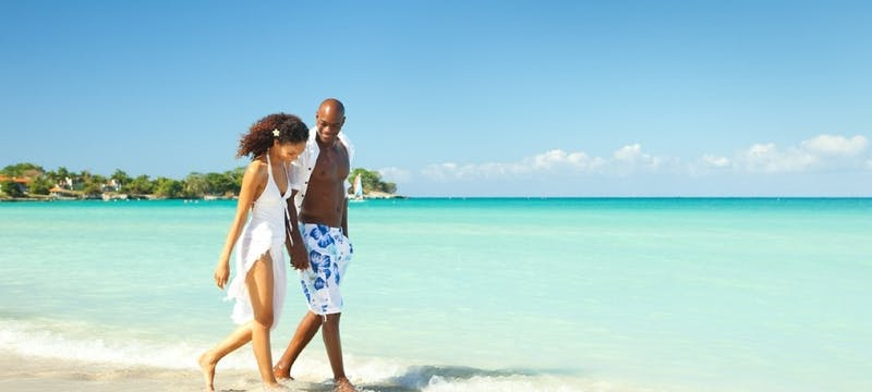 Romantic Stroll On The Beautiful Negril Beach