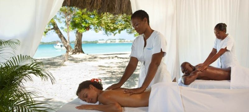 Couples Beach Massage at Couples Negril
