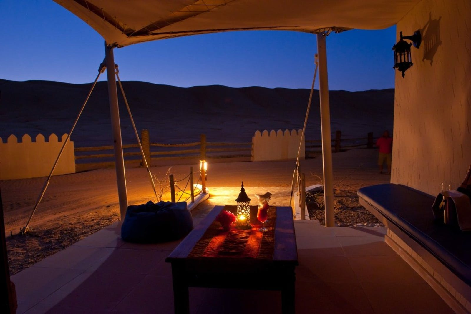 Private tent patio, Desert Nights Camp