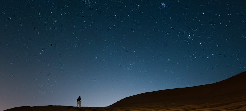 Stargazing in the dunes