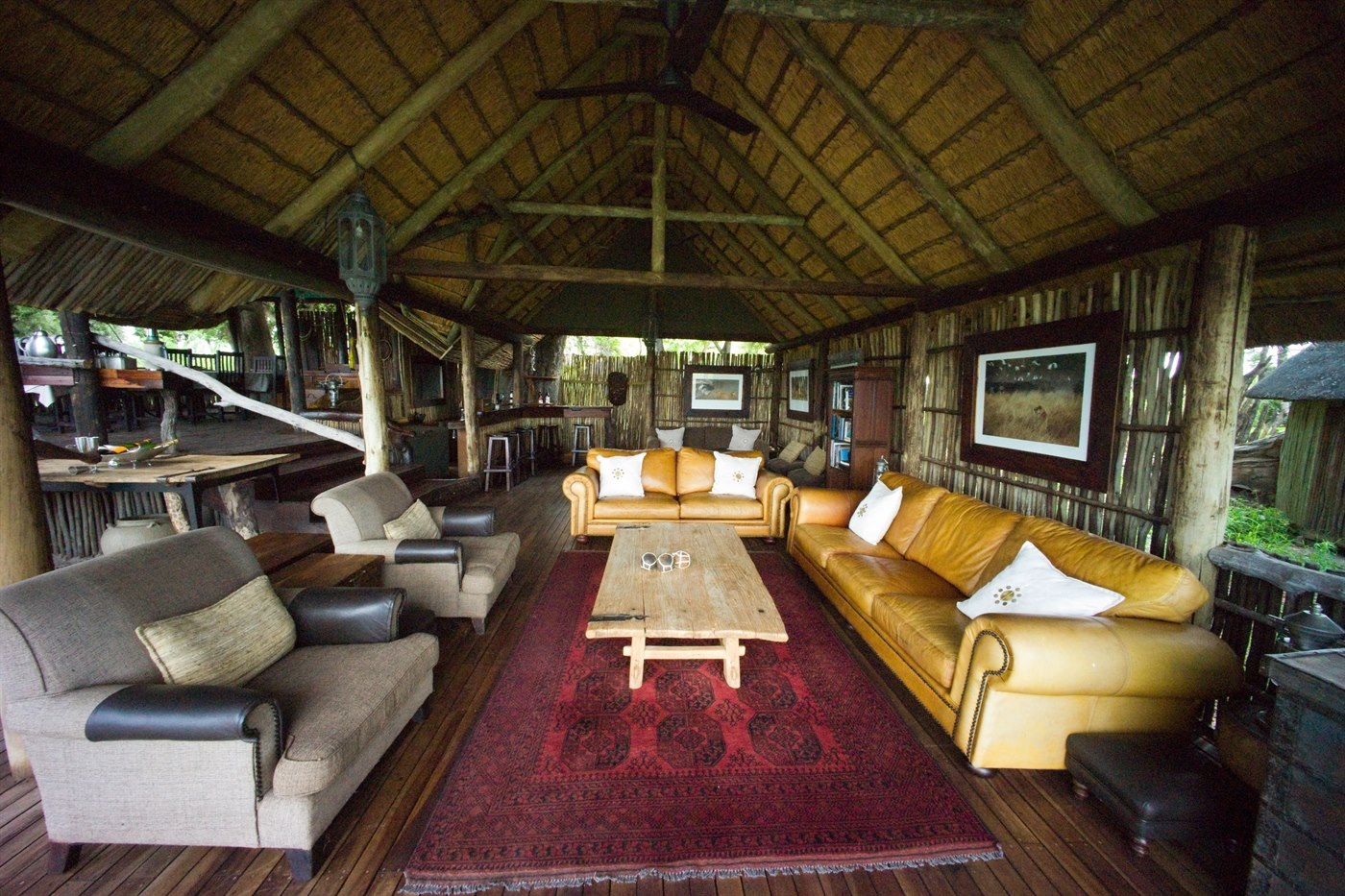 Main living area at Duba Expedition Camp