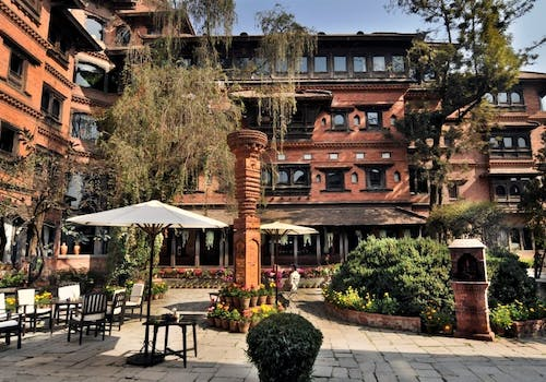 Beautiful exterior of Dwarika's Hotel, Kathmandu