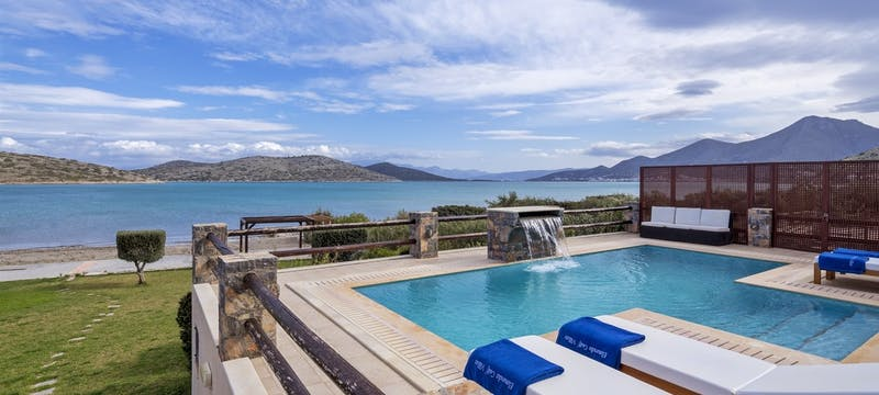 Private Villa Pool at elounda gulf villas  suites, Crete