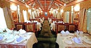 Dining area on Palace on Wheels